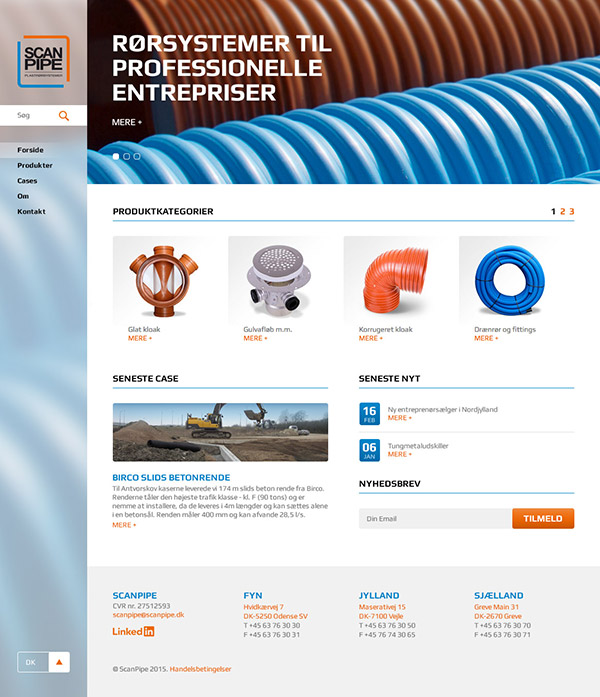 Website design for Scanpipe